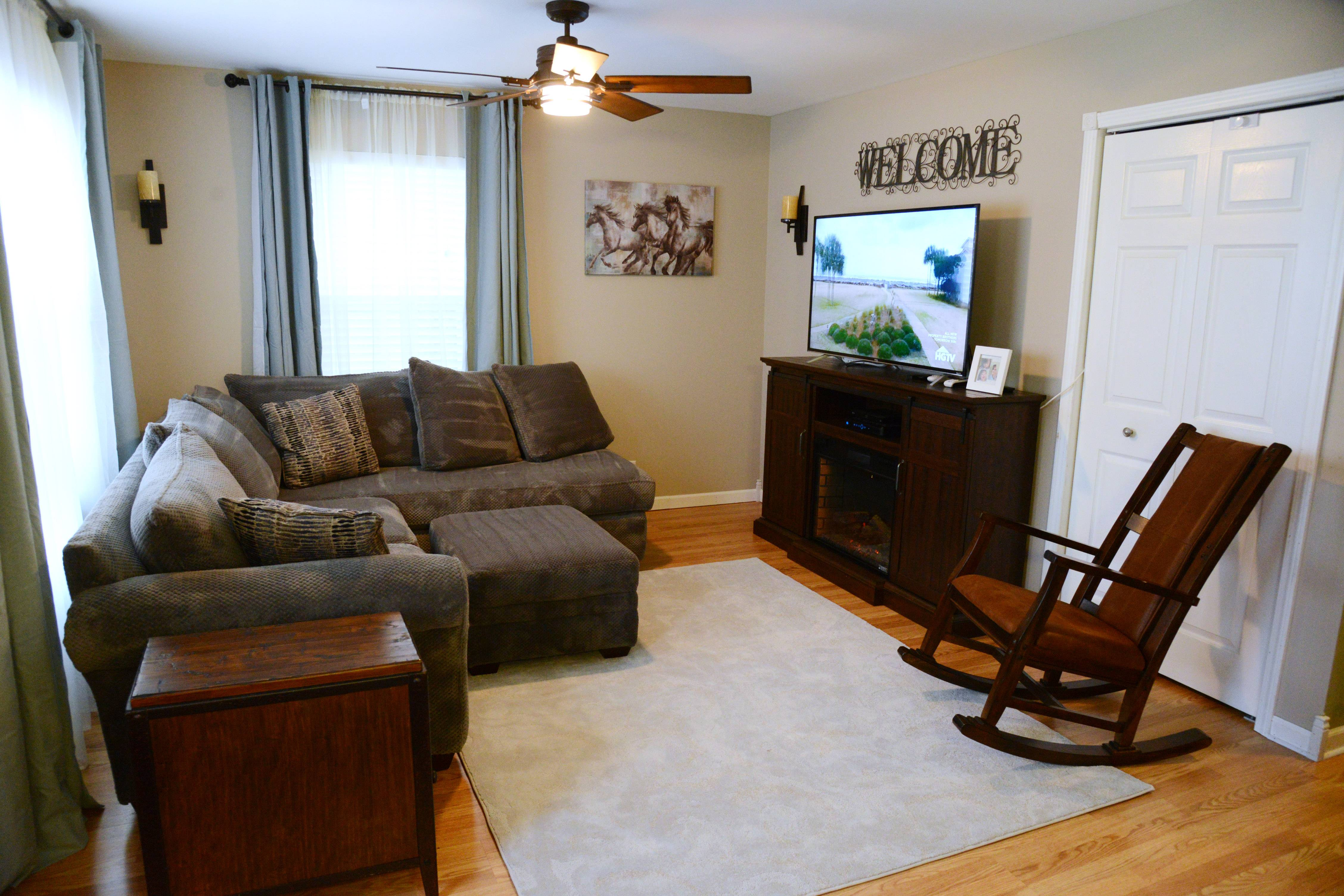 Cindy Walk's living room makeover project in Fox Lake.