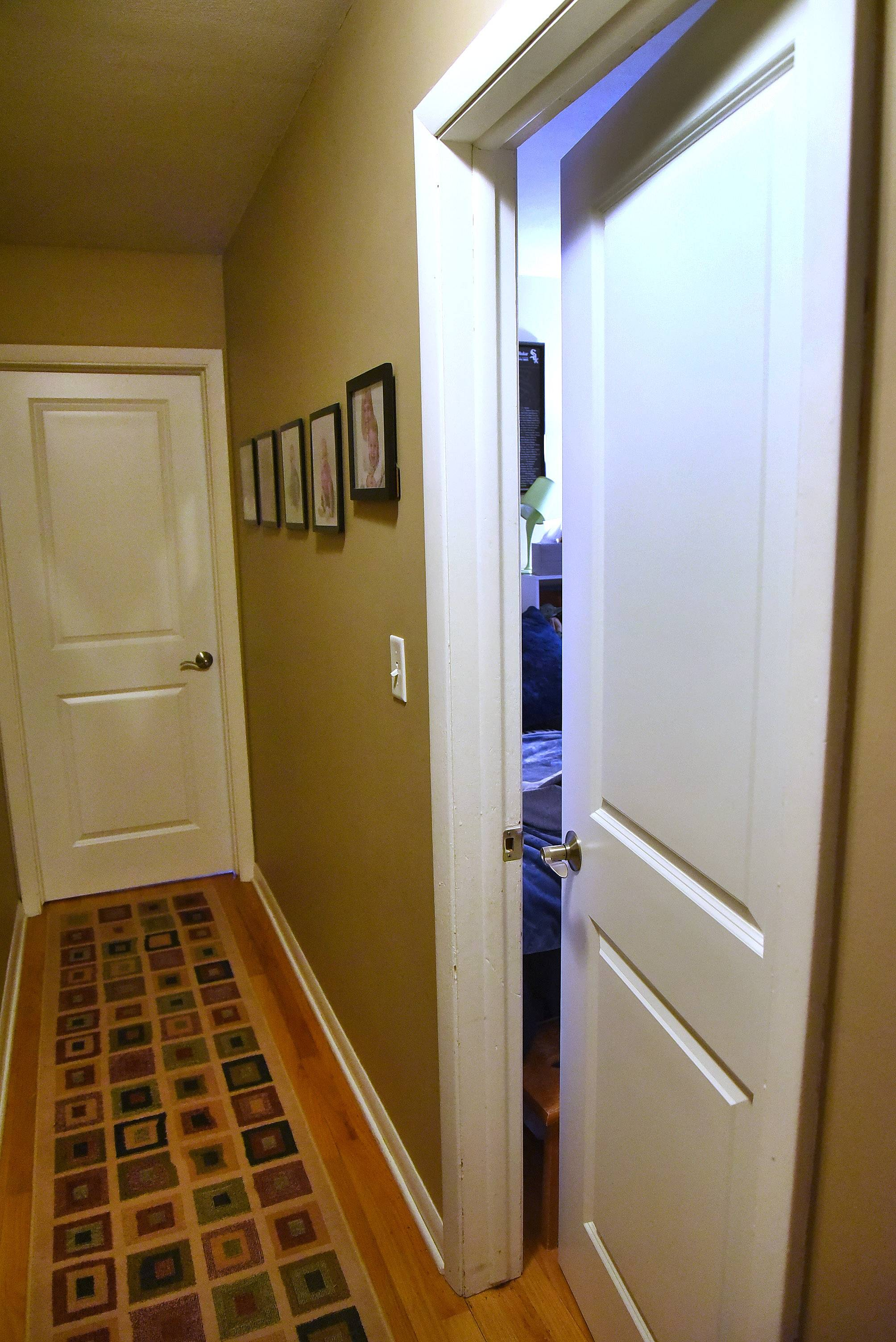 Lisa Piagari of Mount Prospect won new interior doors from HomeStory Chicago. These two-panel doors lead to bedrooms and replace older ones that were very plain, she said.