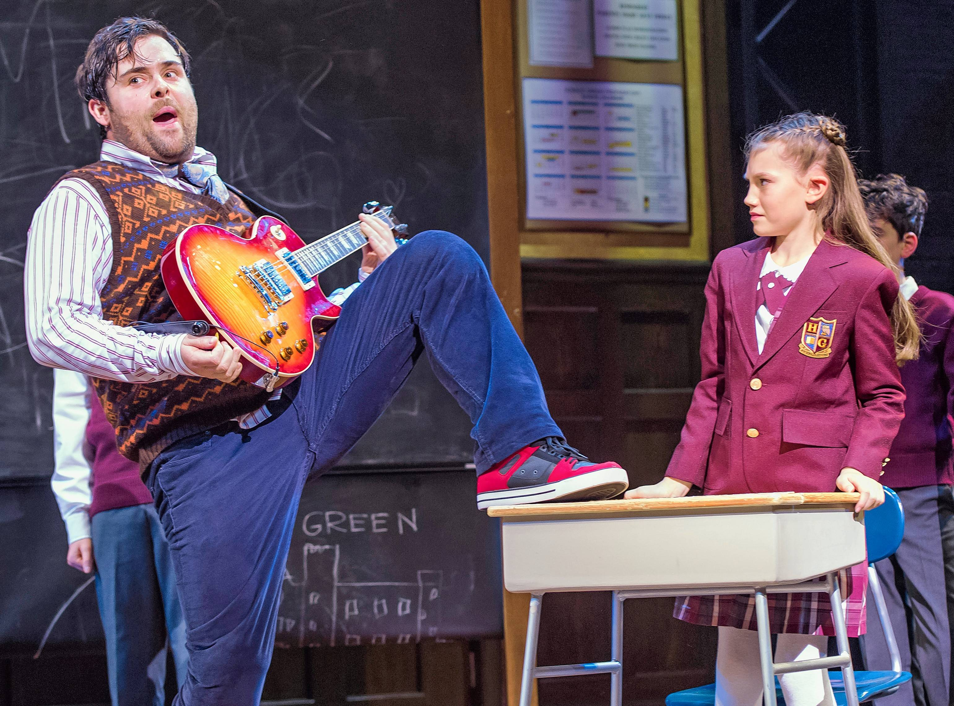 """School Of Rock,"" seen here in its London production, will make its Chicago national touring debut at the Cadillac Palace Theatre in November."