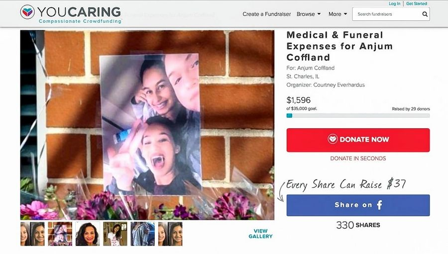 An online fundraiser created by a friend of Tiffany Coffland and neighbor of her mother, Anjum, hopes to help collect $35,000 to pay for medical and funeral costs.