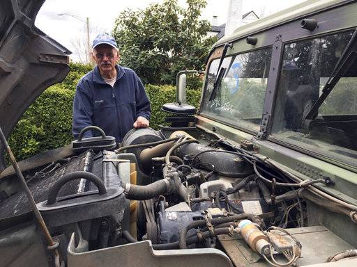 Hank Porter, 75, Mayor of Stayton, Ore., stands with his 1990