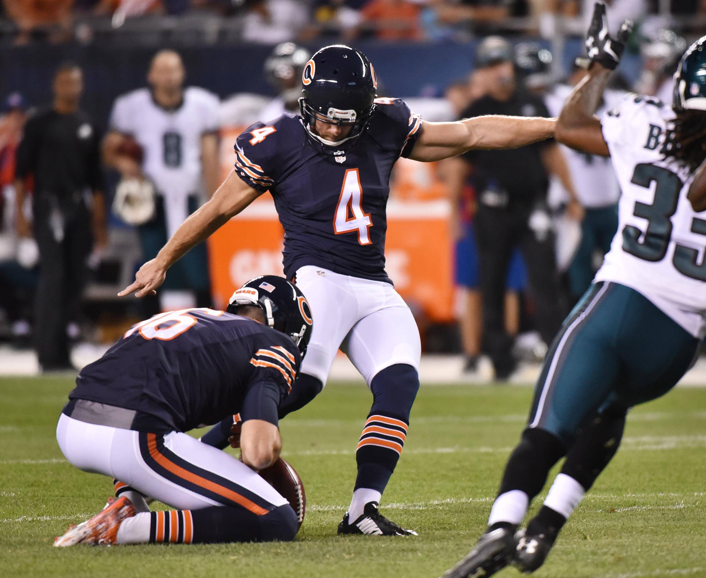 Chicago Bears kicker Connor Barth has officially agreed to a 1-year contract. In his first season with the Bears, Barth connected on 18 of 23 fields goals and 31 of 32 extra points.
