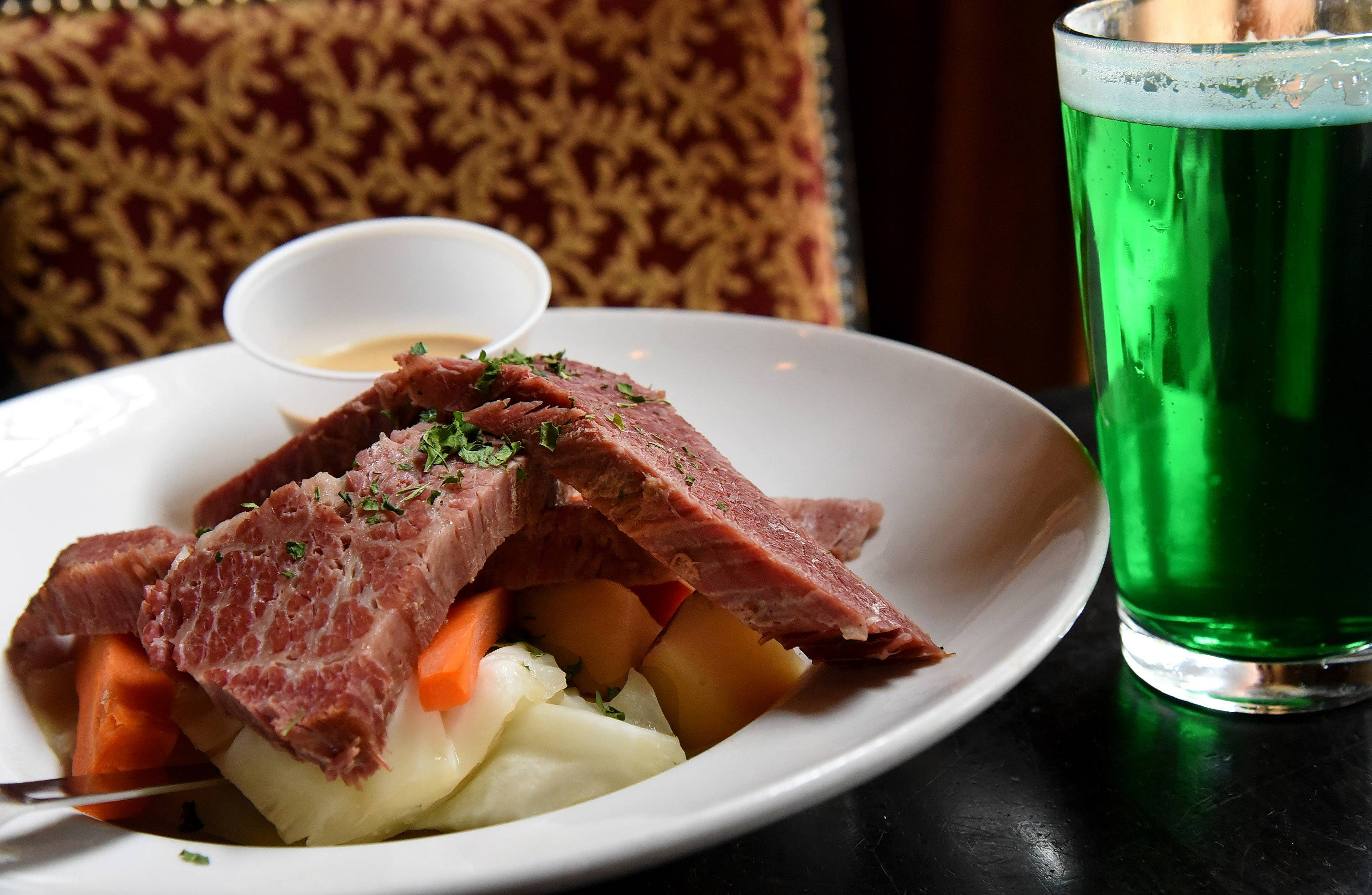 Pair corned beef and cabbage with a green beer St. Patrick's Day weekend at McGonigal's Pub in Barrington.
