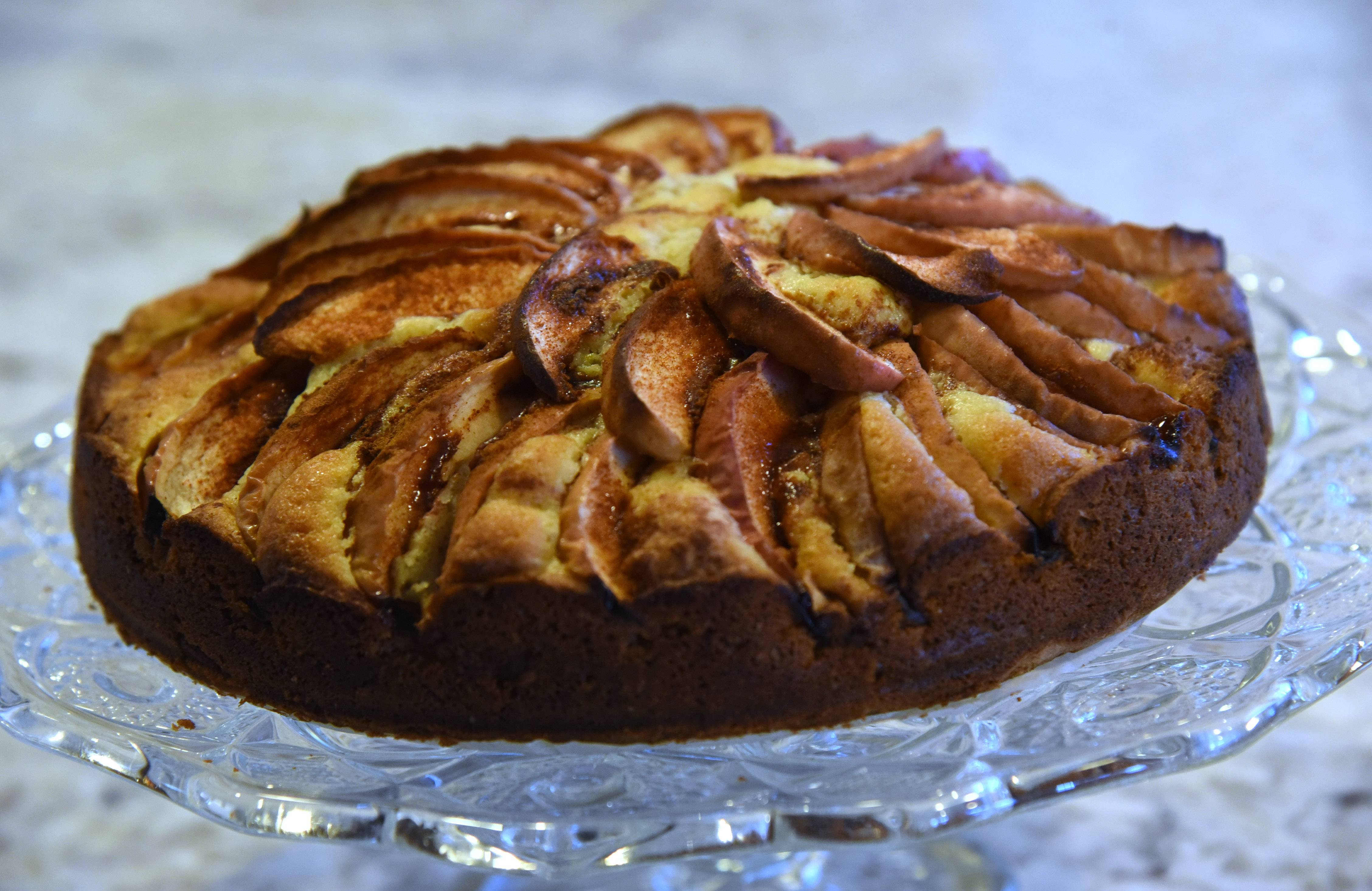 Italian apple cake made by Cook of the Week Donna Abbott of Hawthorn Woods.