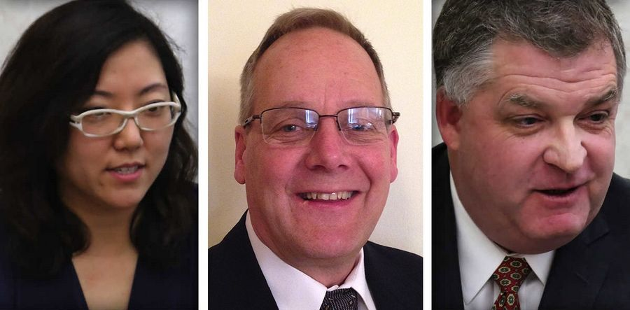Holly Kim, Ray Ladewig and Steve Lentz are running for mayor in Mundelein.