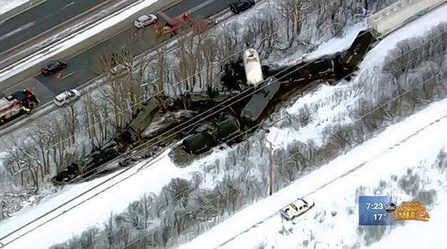 A freight train containing molten sulfur, a hazardous substance in liquid form that is used to make sulfuric acid, derailed early Wednesday in Lake Forest. The Lake County and McHenry County Hazardous Materials Teams responded, but no hazardous materials were found leaking in any cars and there is no health or fire hazarda, authorities said.