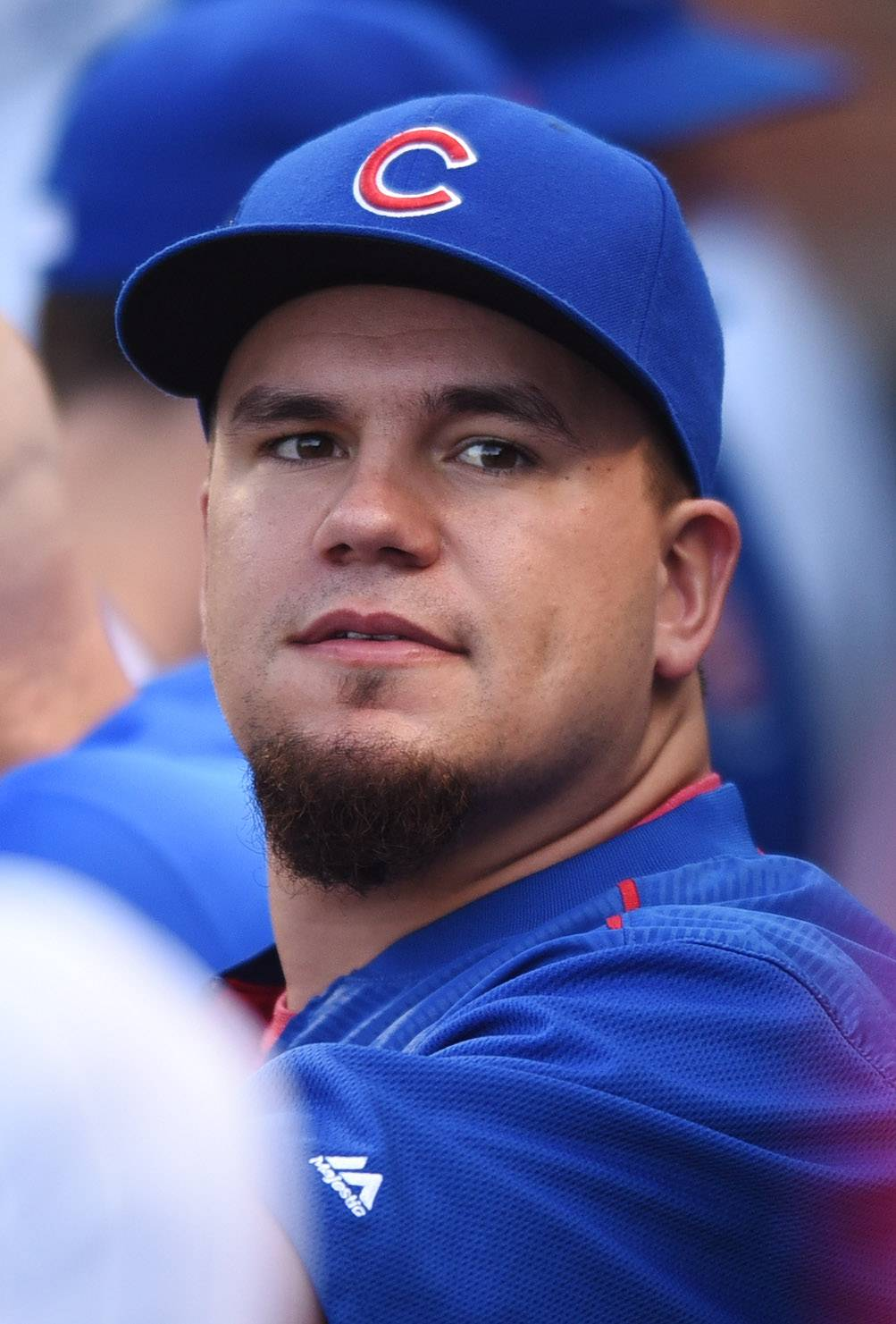Although he spent much of last season rehabbing from knee surgery, Kyle Schwarber also spent a lot of time in the dugout with his Cubs teammates as he charted pitches and cheered them on.