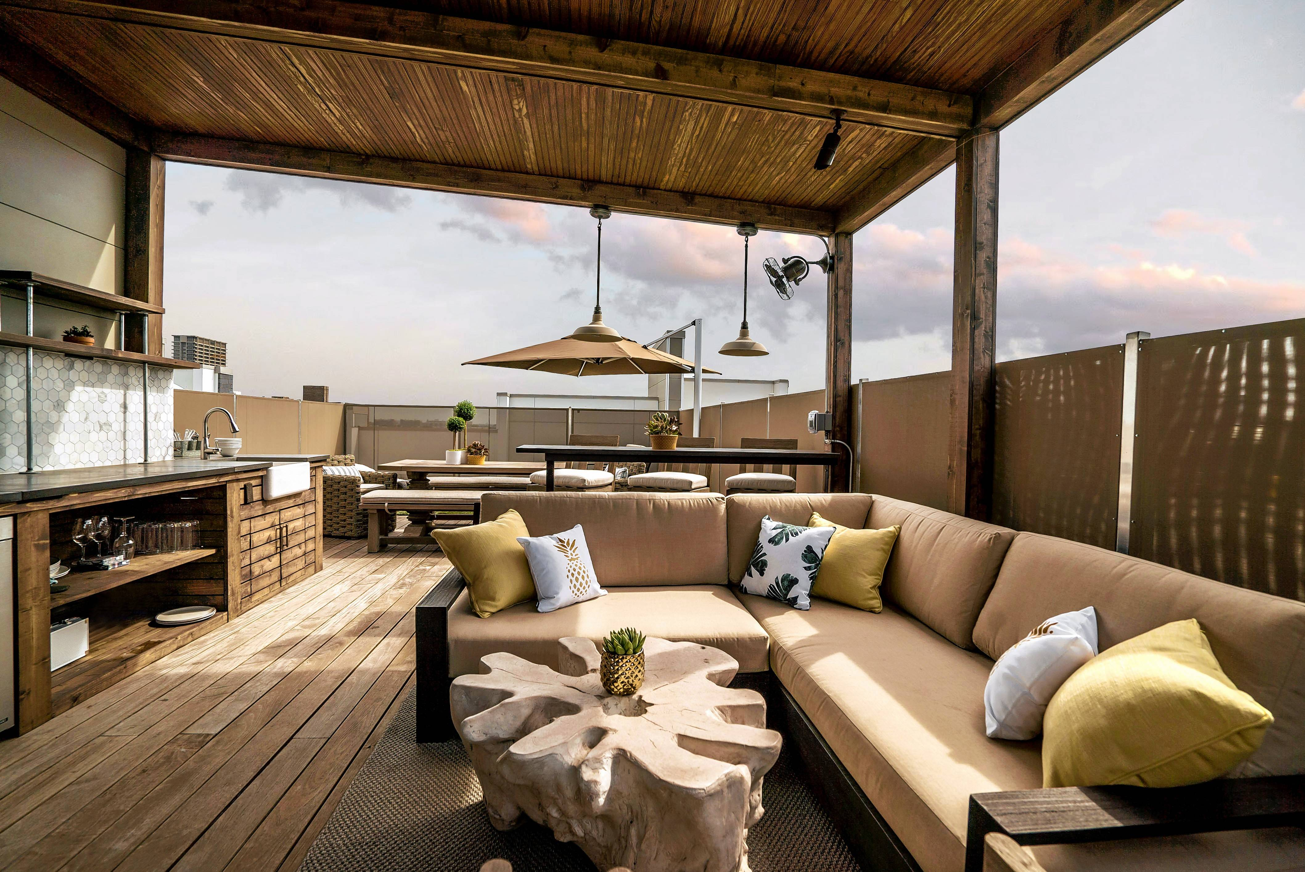 This roof deck was designed by Chicago Roof Deck & Garden, a design-build firm.