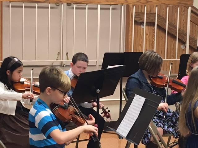 Immanuel Lutheran School students participate in the annual Orchestra Festival on March 11.