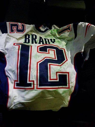 sale retailer aca2e 69b18 Brady's Super Bowl jerseys returned to New England Patriots