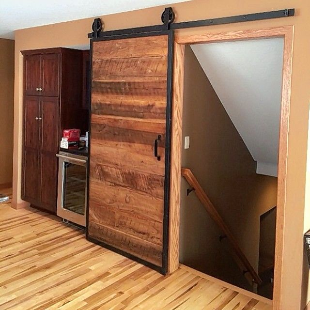 Barn doors as features in homes are gaining in popularity.