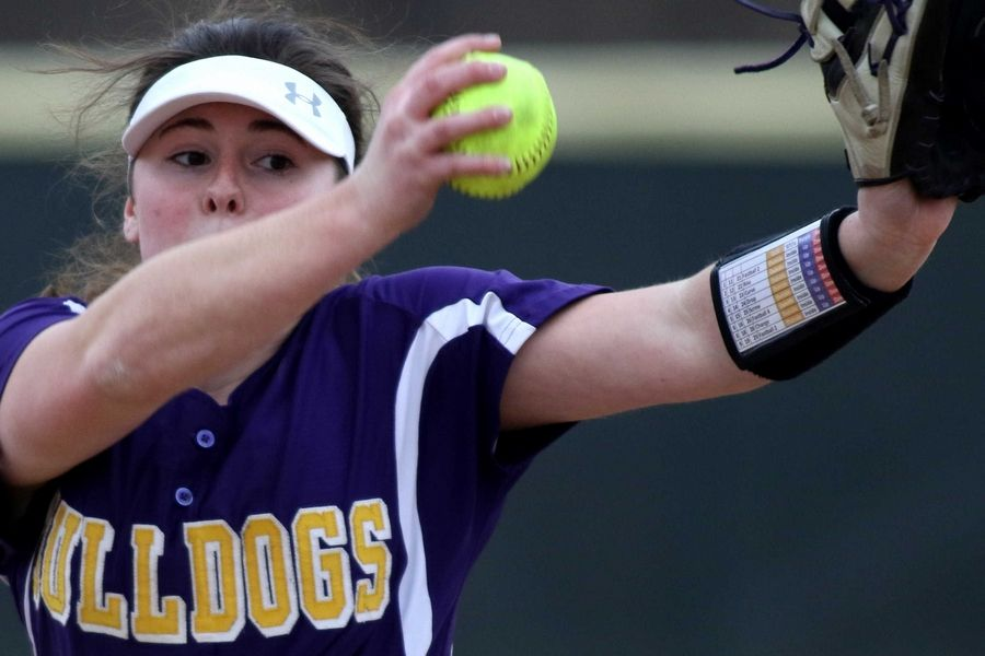 Wauconda hurler Kayla Serio delivers against visiting Marengo on Friday.