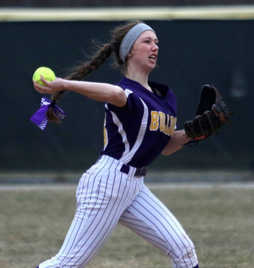 Wauconda's Alyssa McCarthy tosses the ball to first base for an out against Marengo at Wauconda on Friday evening.