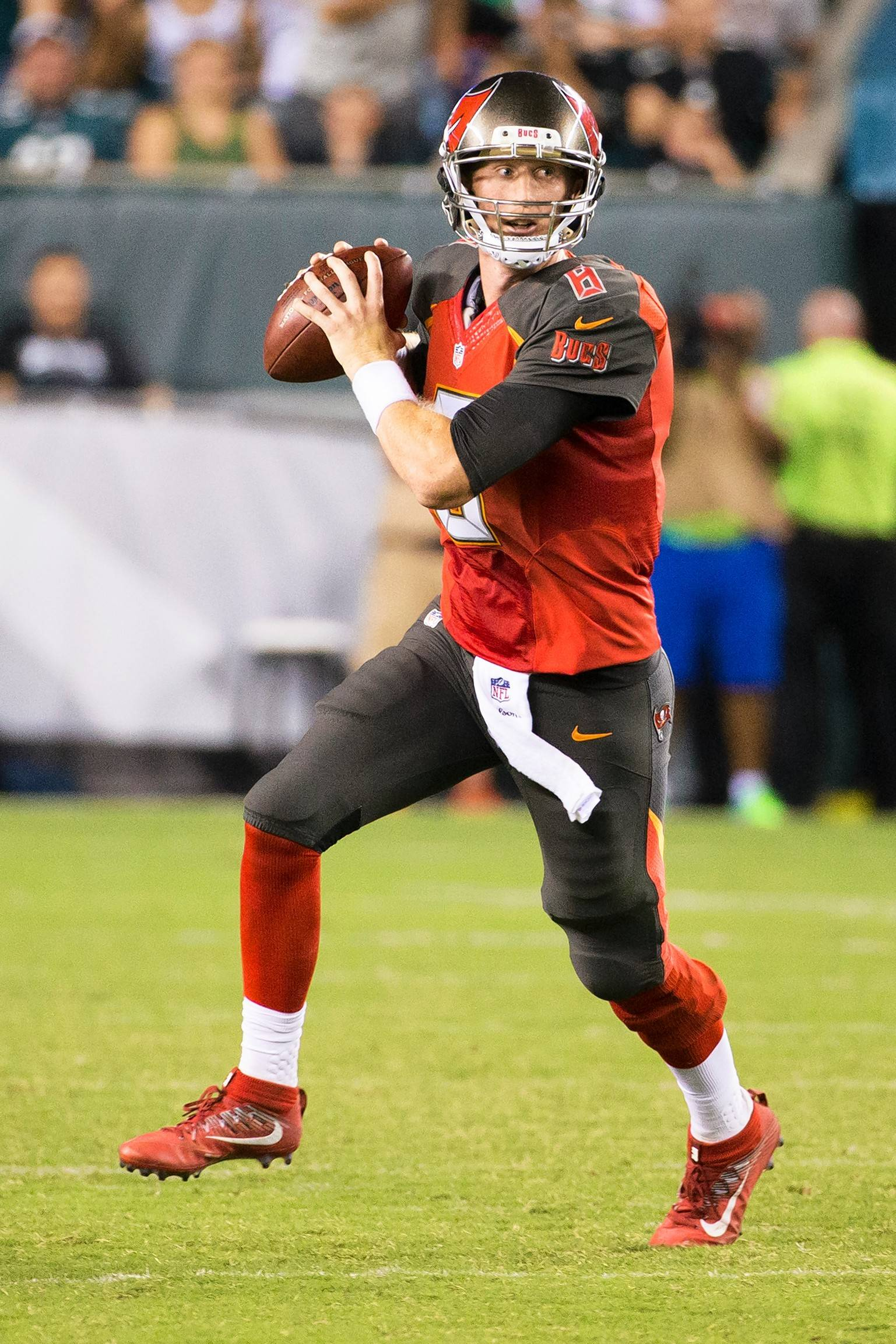 Tampa Bay Buccaneers quarterback Mike Glennon (8) in action during the second half of a the preseason NFL football game against the Philadelphia Eagles, Thursday, Aug. 11, 2016, in Philadelphia. The Eagles won 17-9. (AP Photo/Chris Szagola)