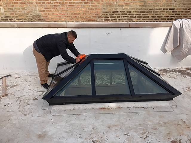 Tubular skylights fill a interior room or dark hallway with directed natural daylight instead of artificial light.