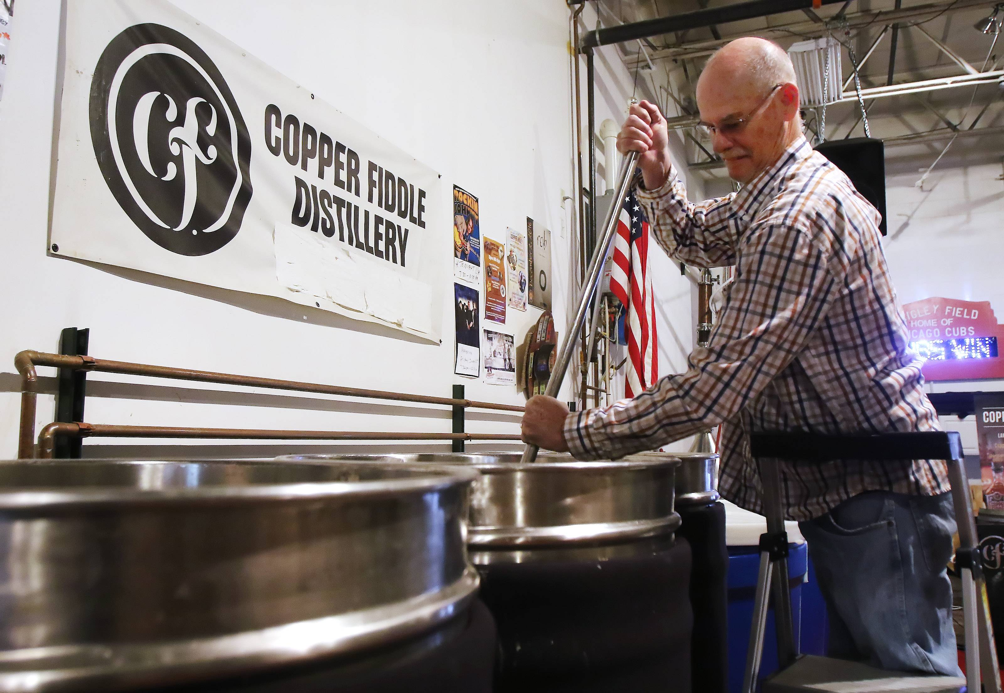 Copper Fiddle Distillery co-owner Fred Robinson says it doesn't make sense state law prohibits him from delivering a small amount of his product to local bars, restaurants and stores. He's now working with a state lawmaker to change that.