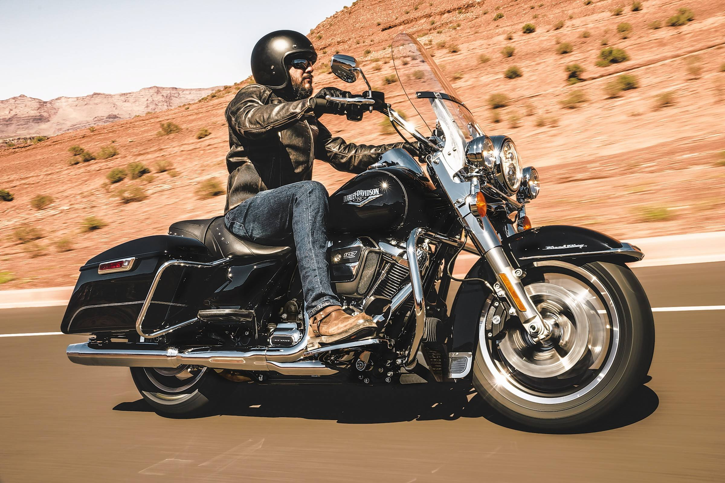 The 2017 Harley-Davidson Road King has been redesigned to take full advantage of the new Milwaukee 8 engine.