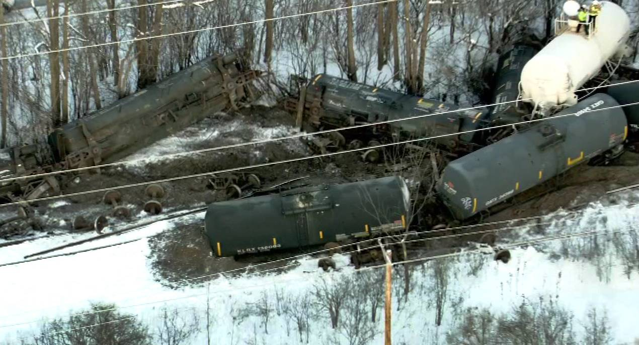 Hazmat traveling by train through suburbs raises concerns