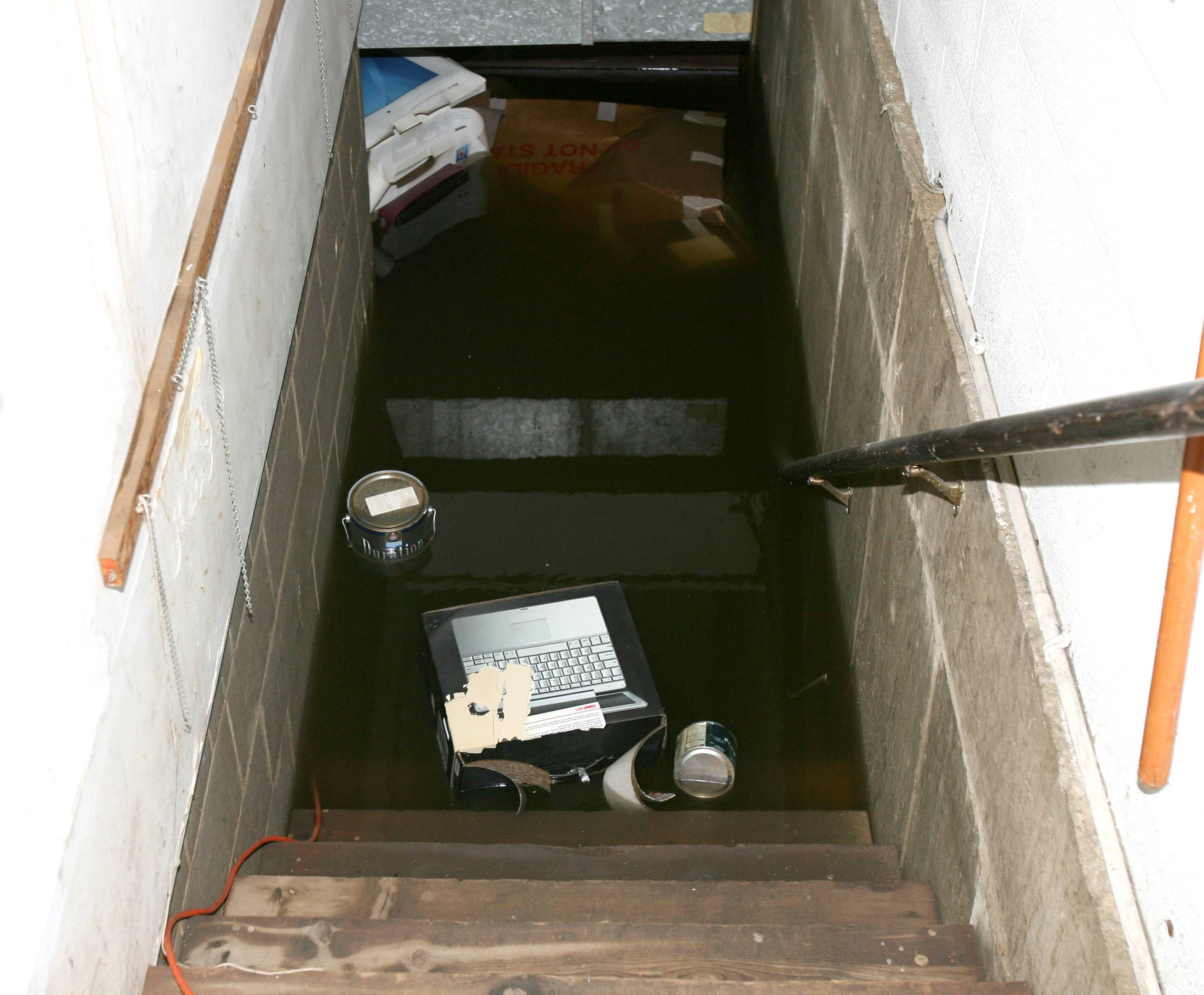 Put safety first if your basement is flooded. There's always the danger of electrocution when water mixes with outlets and appliances.