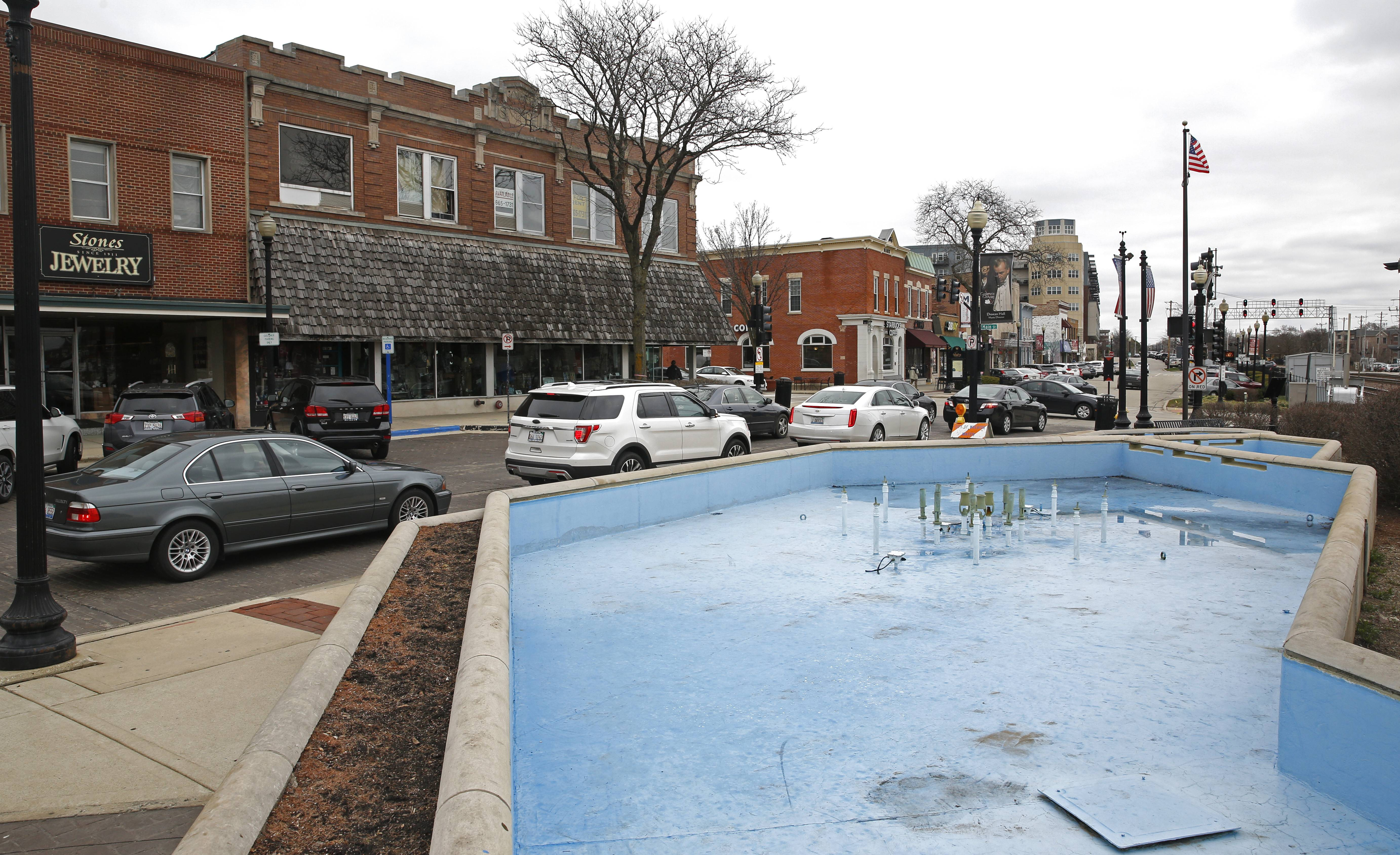 The city is working with designers on several options to redo the Robert J. Martin Memorial Plaza at Front and Main streets in downtown Wheaton.