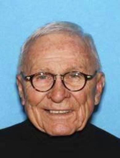 FILE- This image provided by the Pennsylvania State Police shows Edwin Kosik, a 91-year-old federal judge. Kosik, who was reported missing from his home in northeastern Pennsylvania, was found alive Thursday, March 30, 2017, in a wooded area of Dunmore, outside Scranton, Pa. Kosik disappeared from his home Tuesday night, which sparked an intensive search involving the U.S. Marshals Service, state police and the FBI. (Pennsylvania State Police via AP, File)