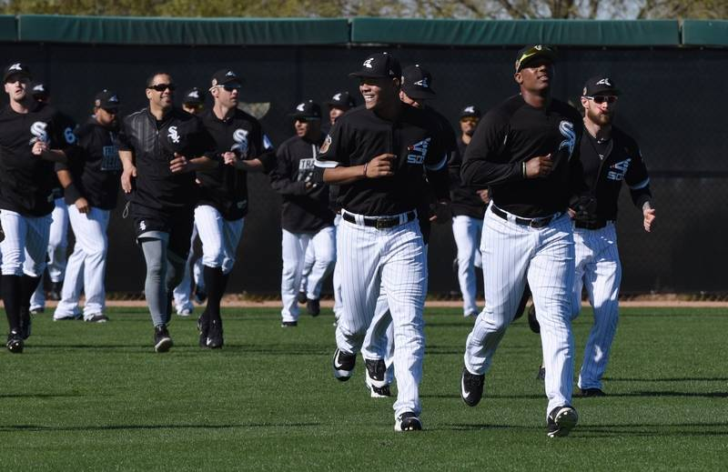 Can white sox gm rick hahn finish the rebuild the chicago white sox warm up during spring training camp at camelback ranch in glendale sciox Choice Image