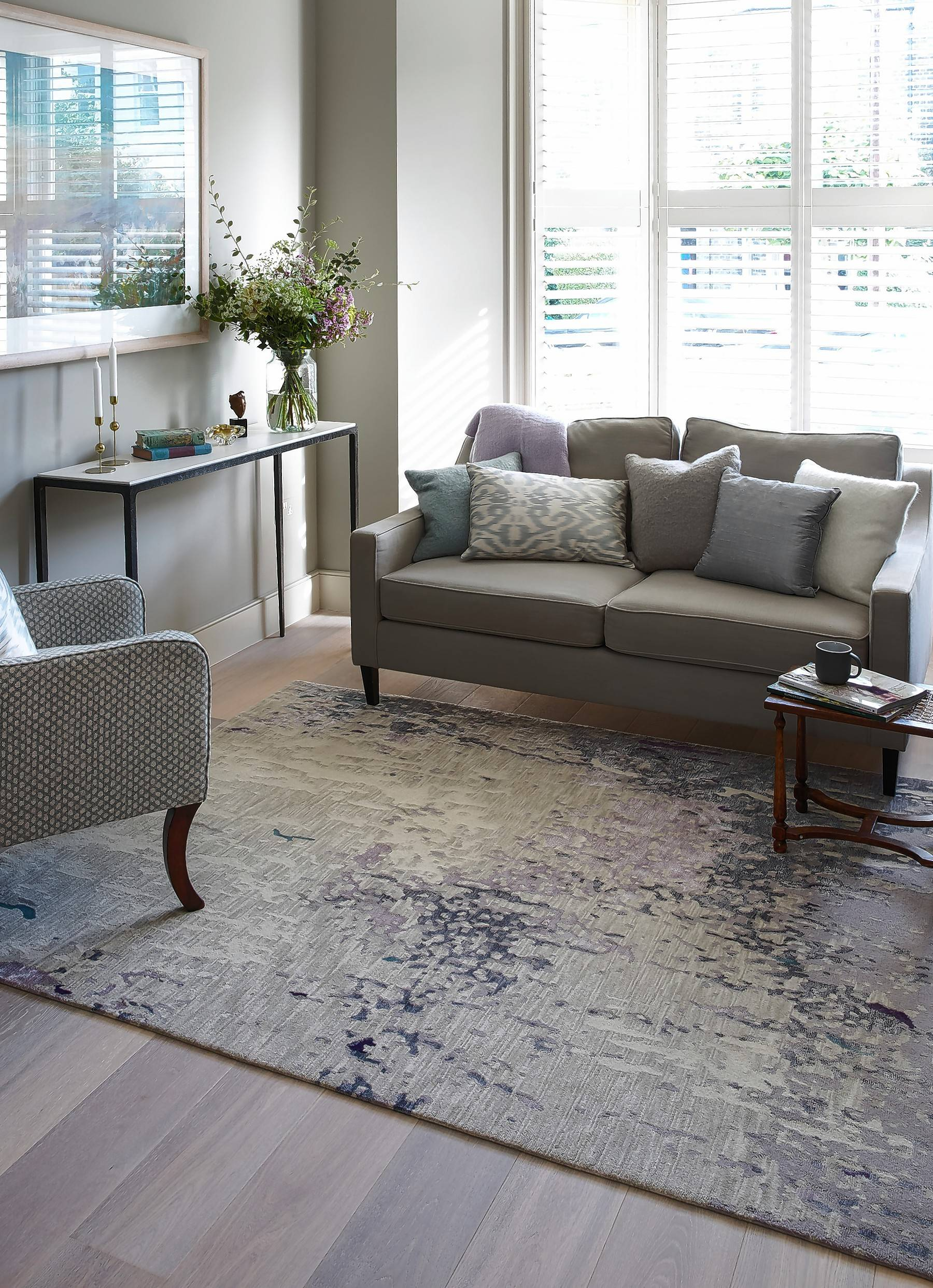 finesse your floors with carpet tiles or area rugs rh dailyherald com Best Living Room Carpet Black Carpet Living Room