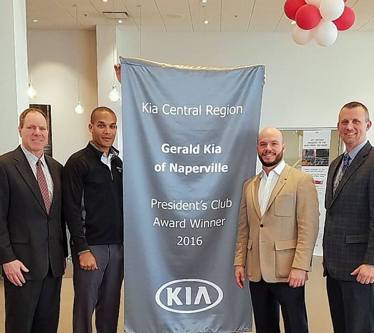 Gerald Kia Of Naperville Earns Award