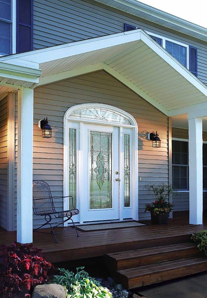 Fiberglass is a common modern choice for outside doors. Sahara Window and Doors in Mount Prospect also sells doors of solid oak, birch, cherry, poplar and other woods.