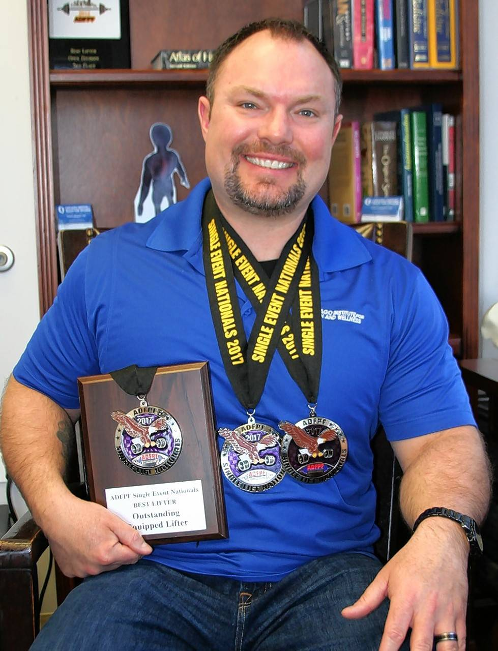 Thomas Mitchell, a lifetime weightlifter and clinic director at Chicago Institute for Health and Wellness in Elgin, recently broke both the American and world powerlifting records in the 198-pound weight class, equipped bench press division at the recent American Drug-Free Powerlifting Federation Competition.