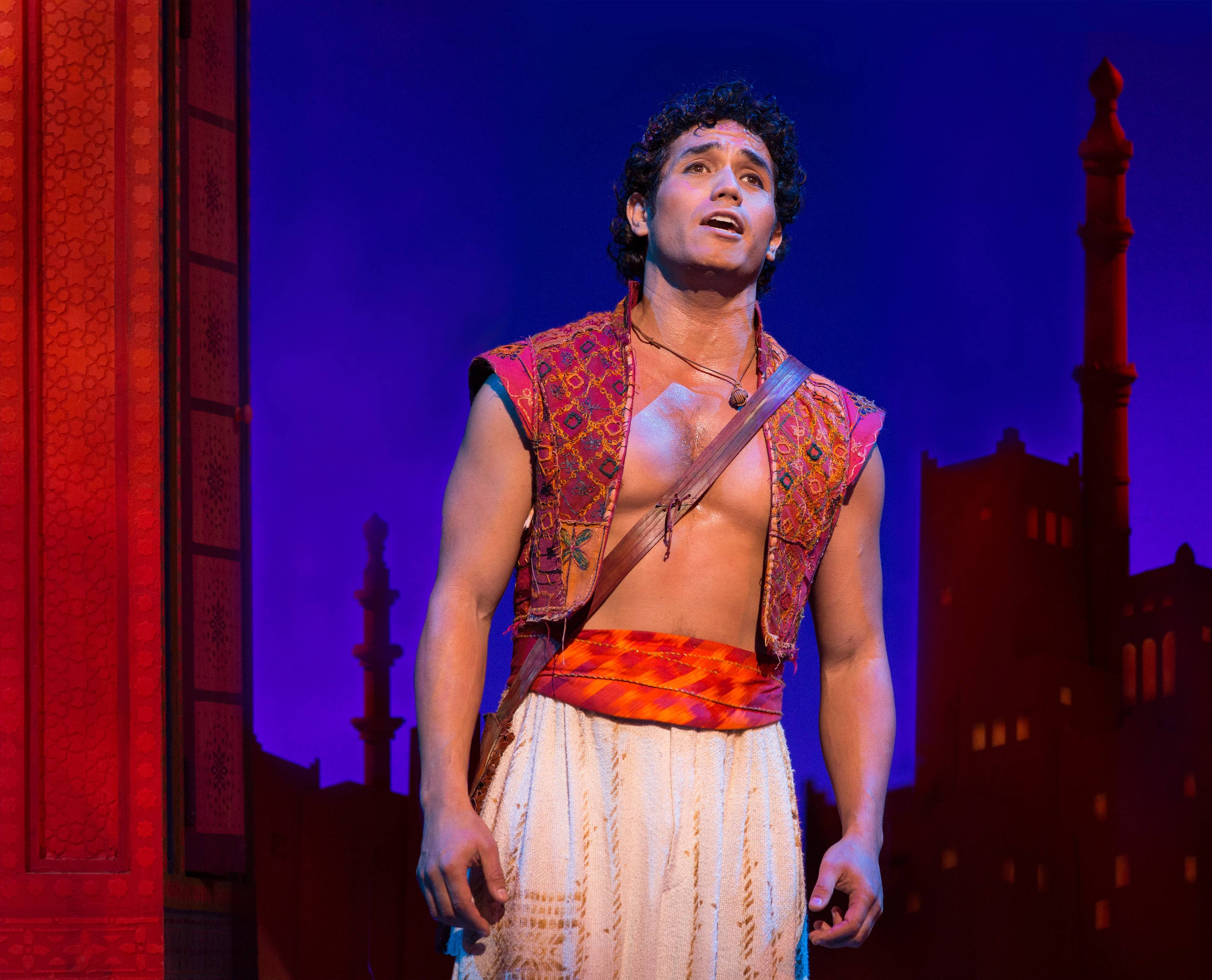 "Original Broadway star Adam Jacobs returns to the title role of Disney's ""Aladdin"" for the North American tour. It launches in Chicago at the Cadillac Palace Theatre."