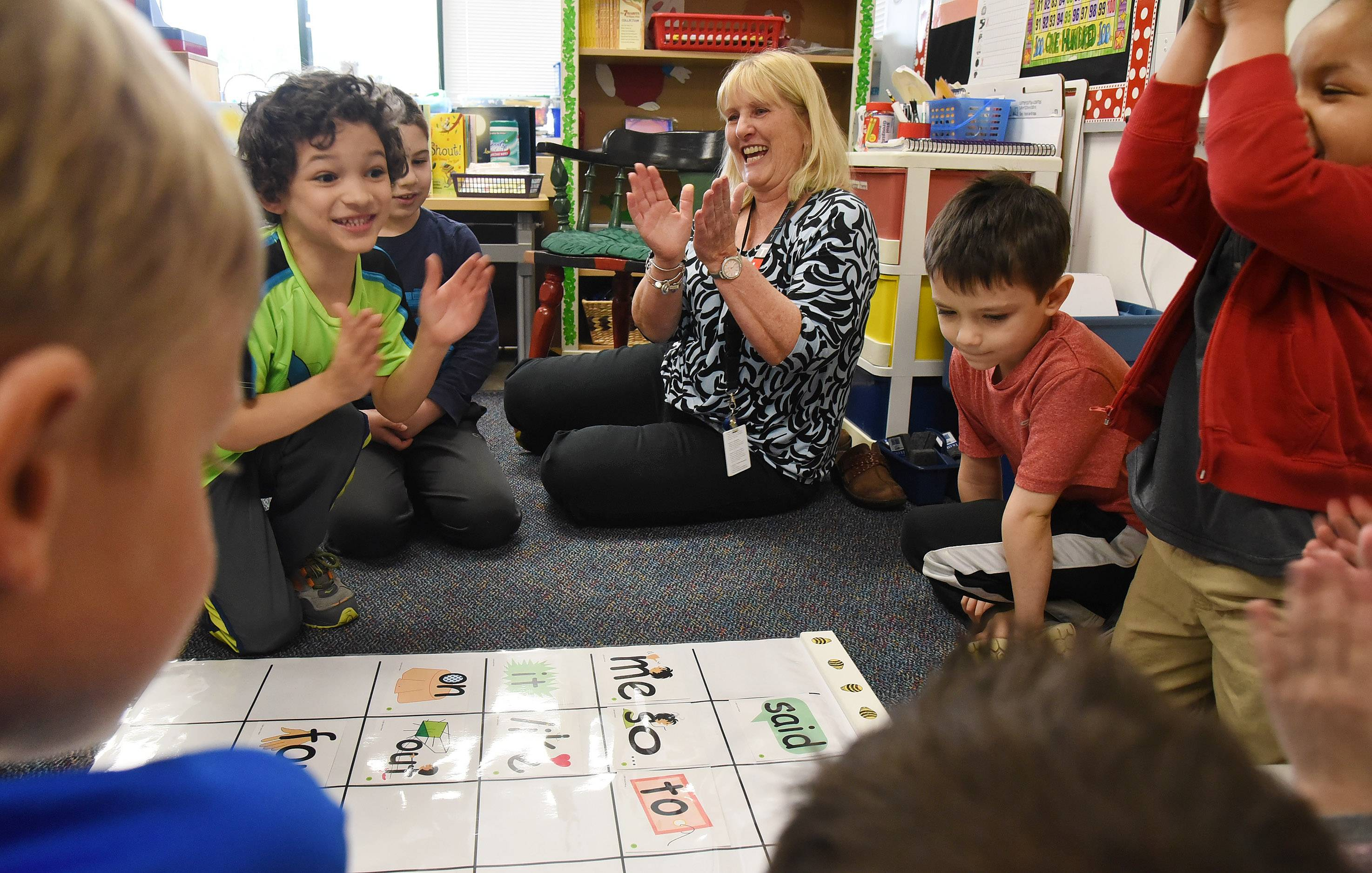 Nancy Abruscato, a kindergarten teacher at Westgate Elementary School in Arlington Heights, says it's important her students learn how to work together in the classroom.