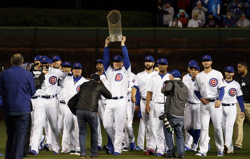 best sneakers 7130e fa3d7 Images: World Series Banner Raised, Chicago Cubs Earn a