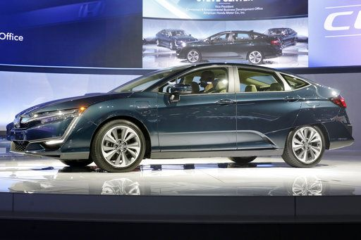 The Hybrid Model Of Honda Clarity Is Shown During A Media Preview At New