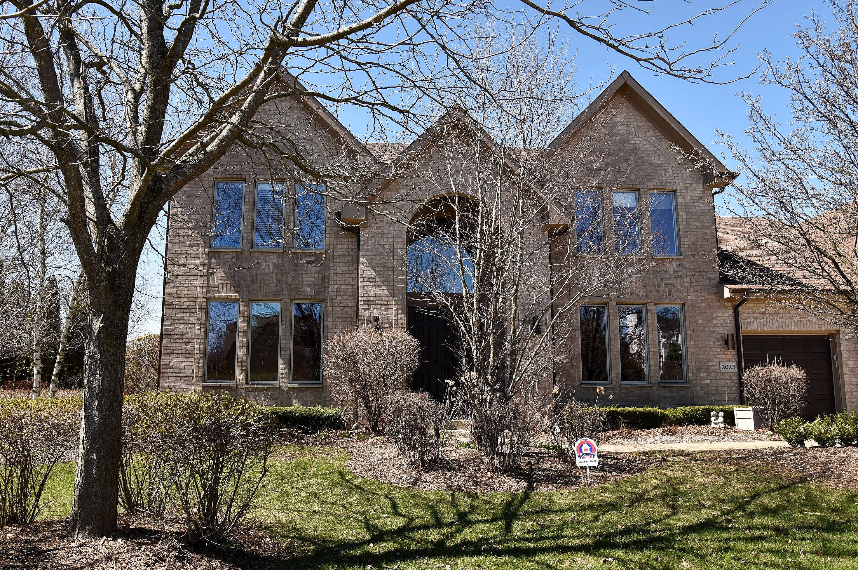 The Rolling Hills neighborhood in Buffalo Grove has several custom-built homes, including this one on the 2000 block of Sheridan Road.