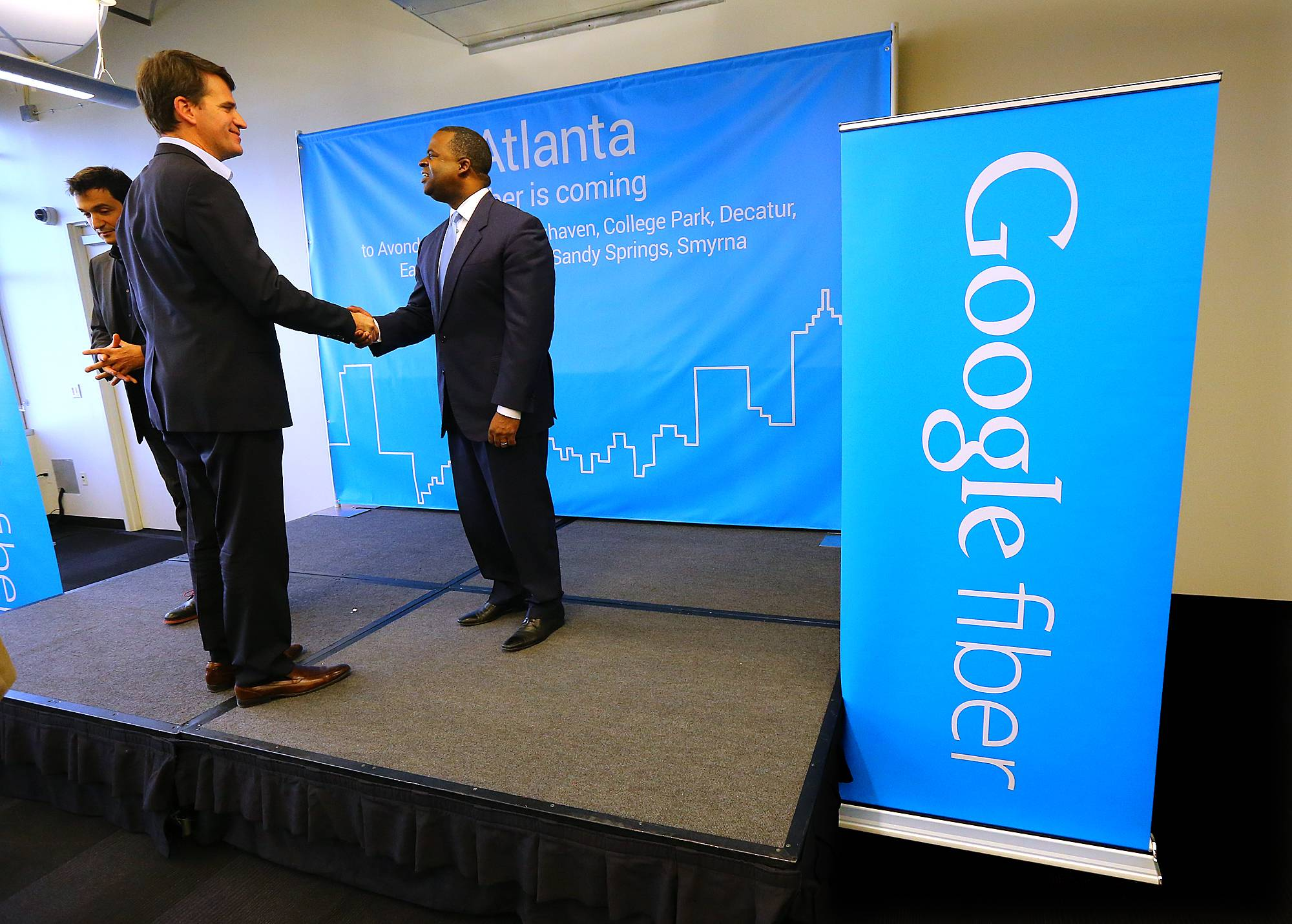 In 2015 Google announced the launch of Google Fiber in Atlanta, Charlotte, Raleigh-Durham, and Nashville.