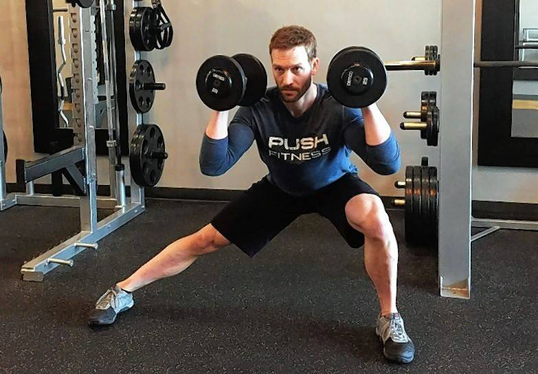 Add a lateral lunge to your workout. The lateral movement adds a new dynamic that will stress muscles differently than a traditional lunge.