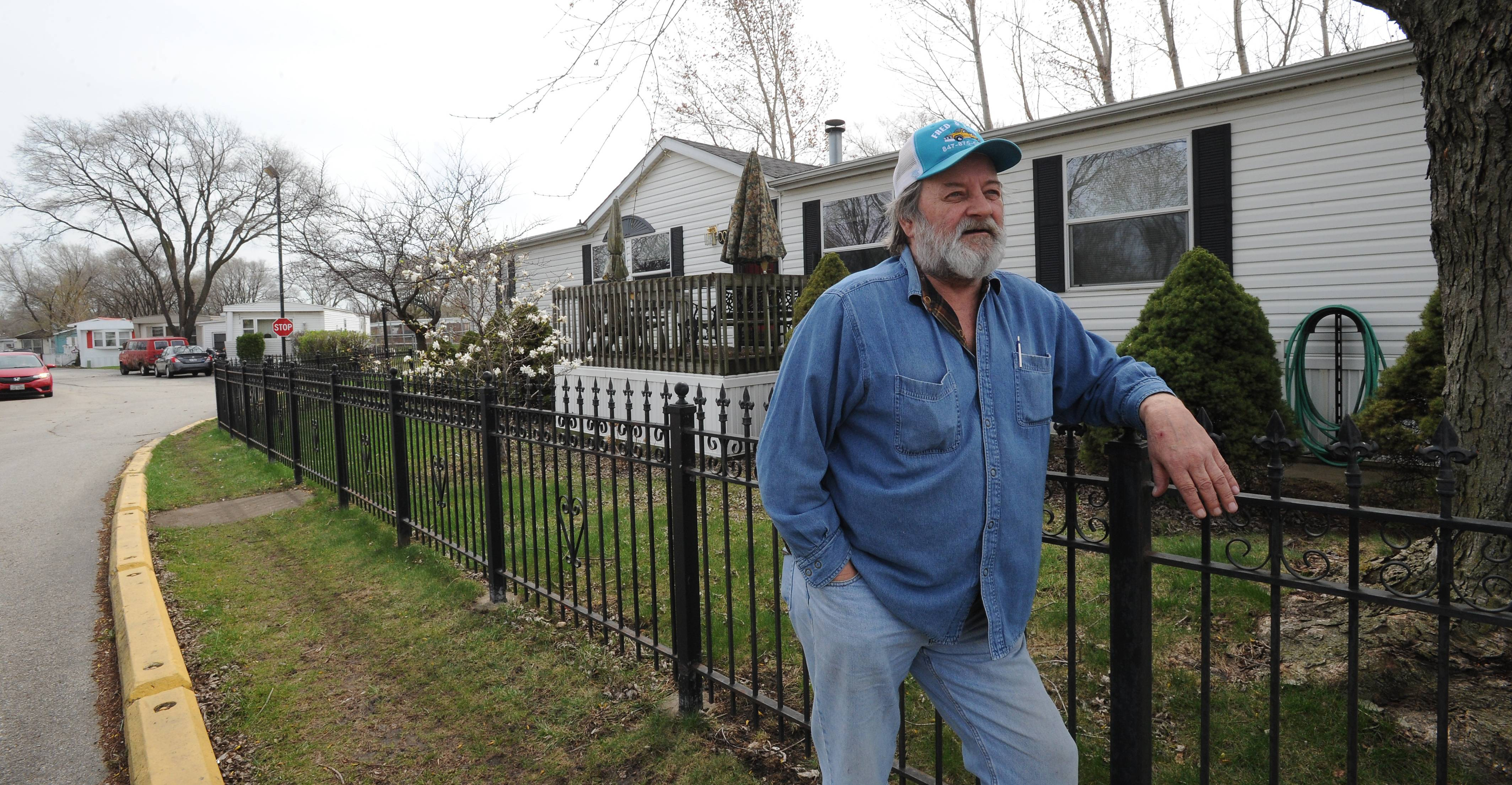 Oasis resident Roger Knutson asked to build a basement under his home. The request was denied.