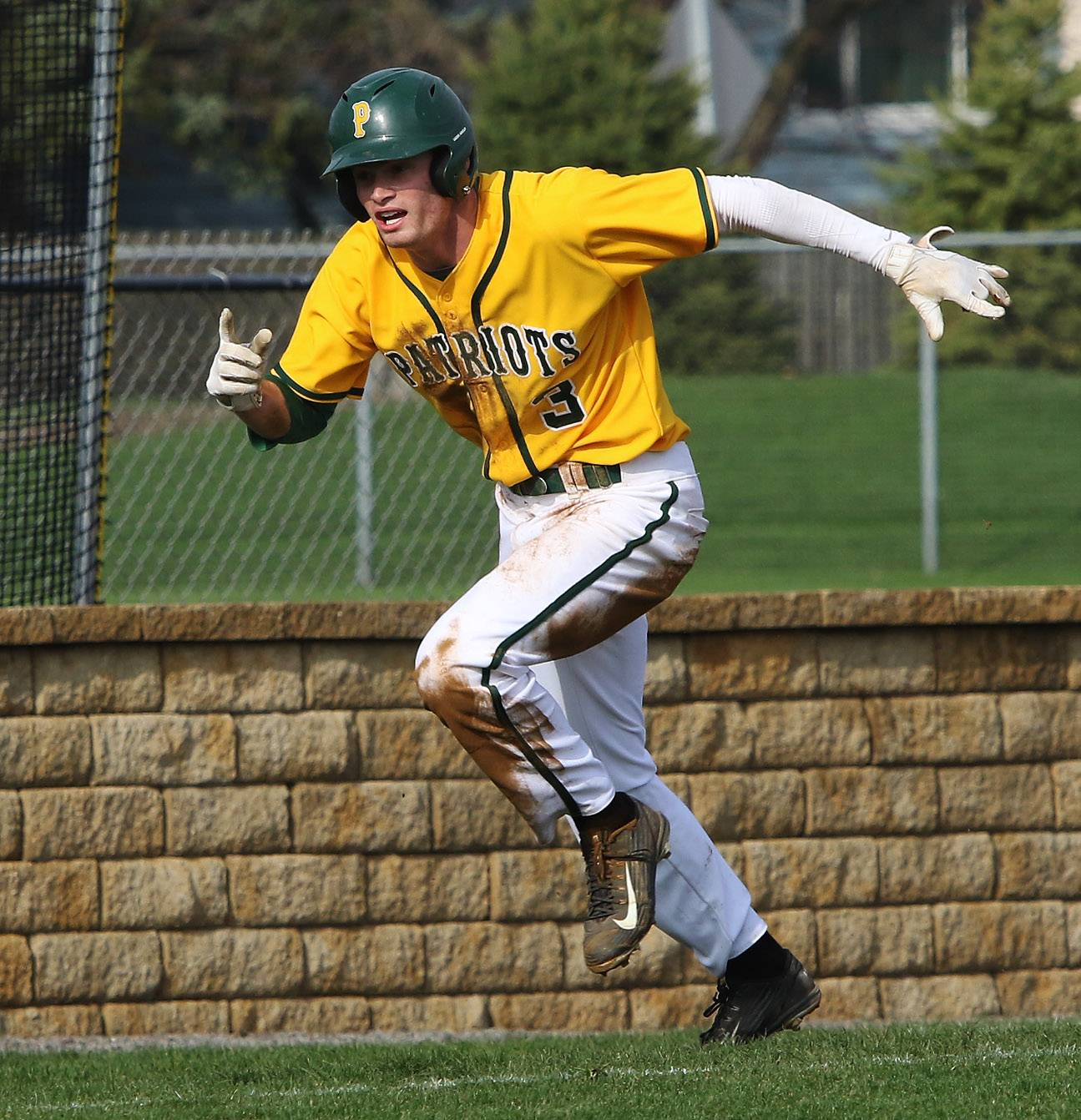 Stevenson's Henry Marchese, an Iowa football recruit, is drawing interest from professional baseball organizations for his recent exploits.