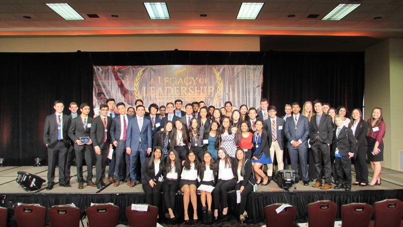 Vernon Hills HS FBLA students that participated in the State  competition.Diane Phillips