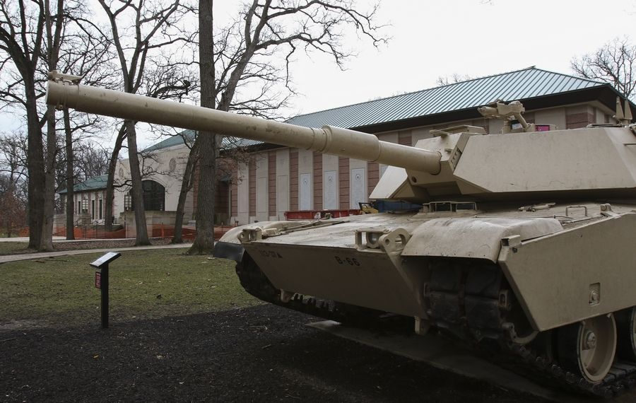 Nearly a dozen Army tanks parked outside the museum will be cleaned and repainted. That work will be complete midsummer before the museum reopens in August.