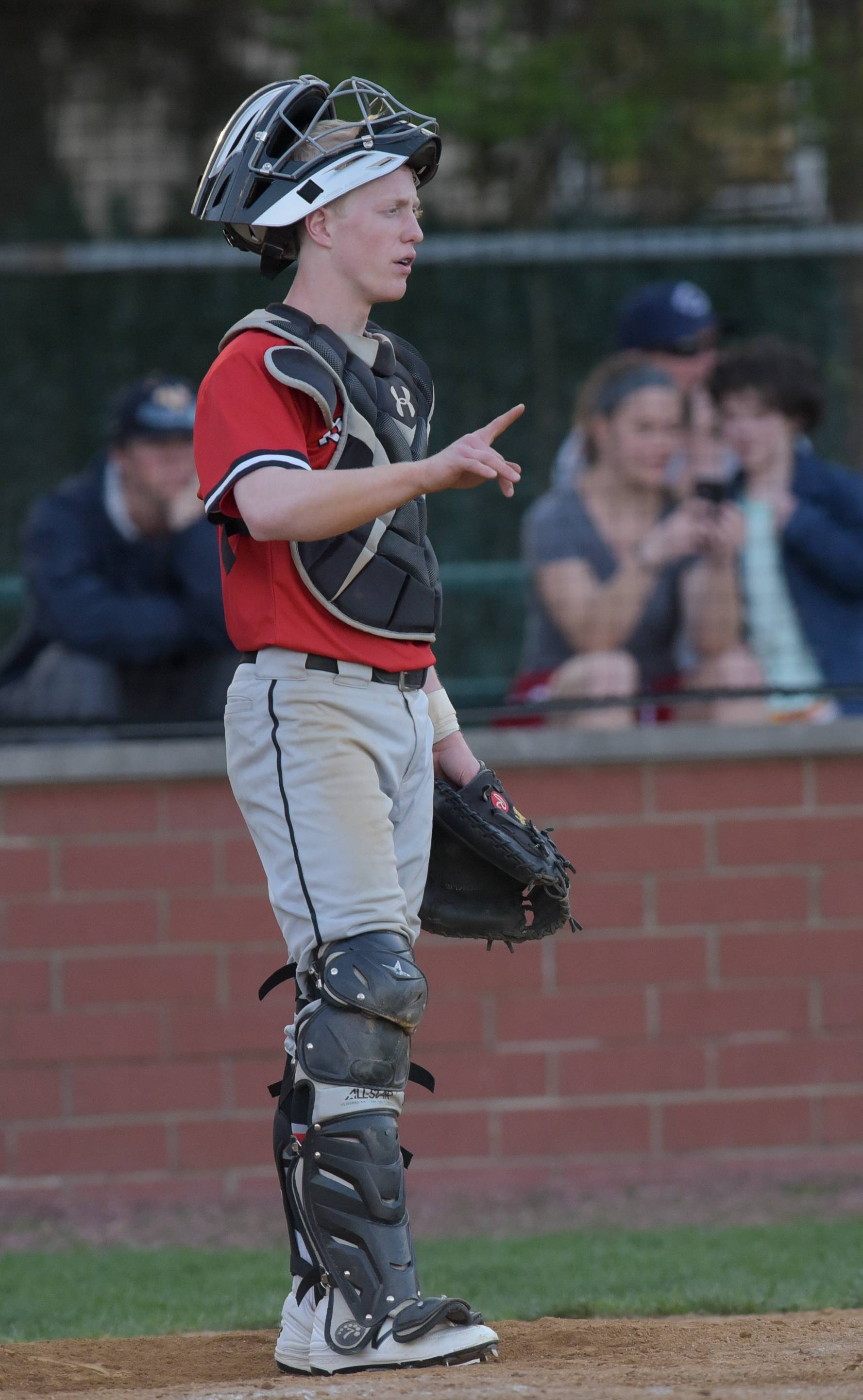 Benet Academy's Anthony Adams during varsity baseball against Nazareth in Lisle, April 18, 2017.