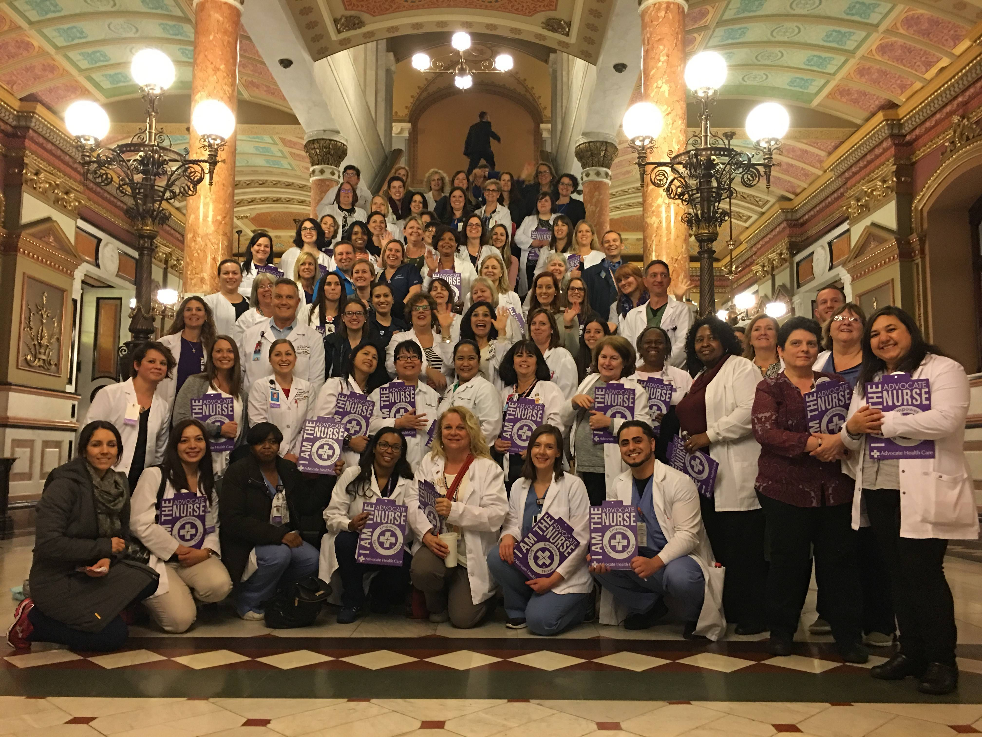 Nurses represent Advocate Health Care at Nurse Advocacy Day in Springfield