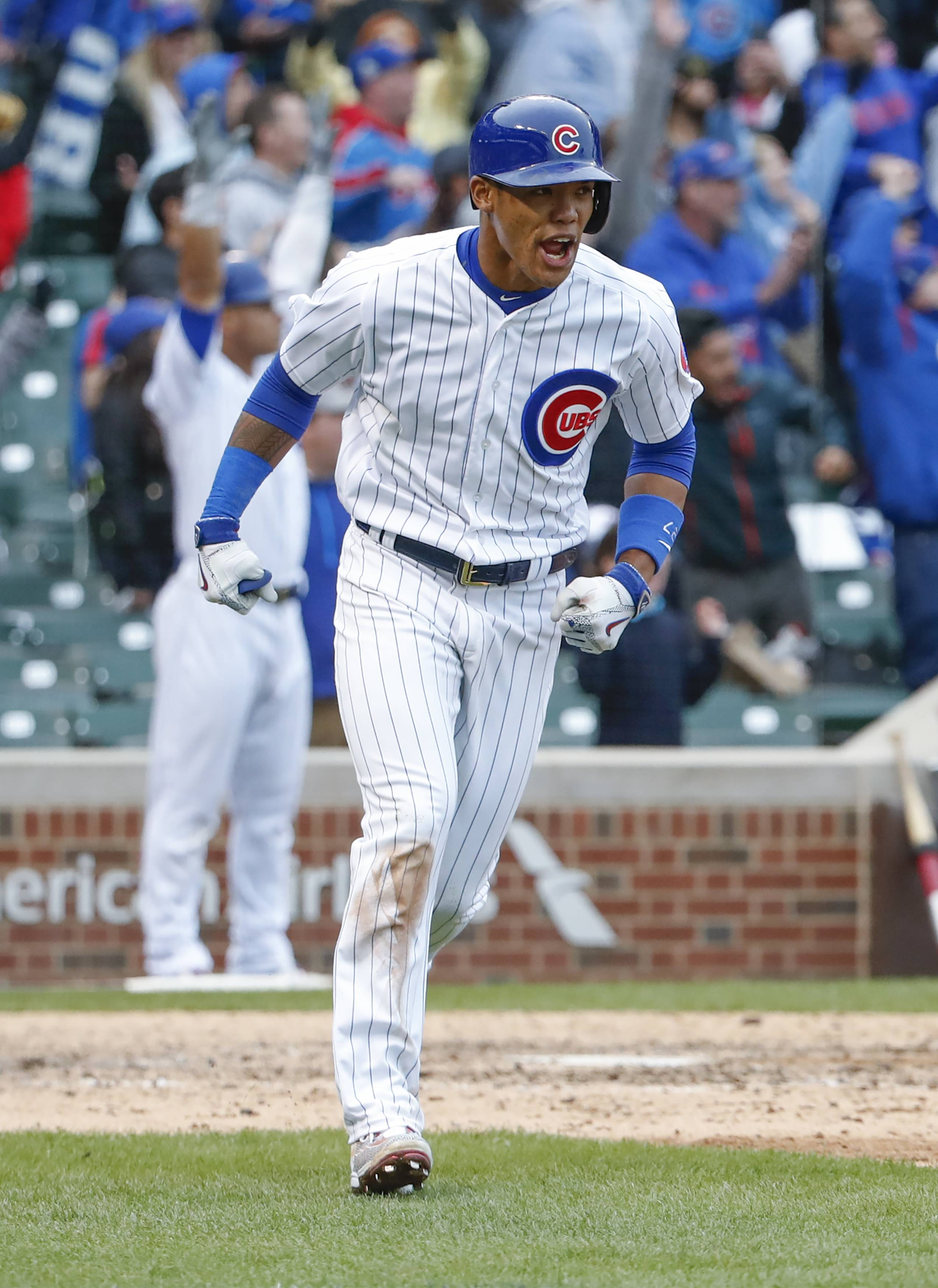 The Chicago Cubs rallied again Wednesday when Addison Russell hit a 3-run walk-off homer in the bottom of the ninth inning to give the Cubs a 7-4 victory over the Milwaukee Brewers.