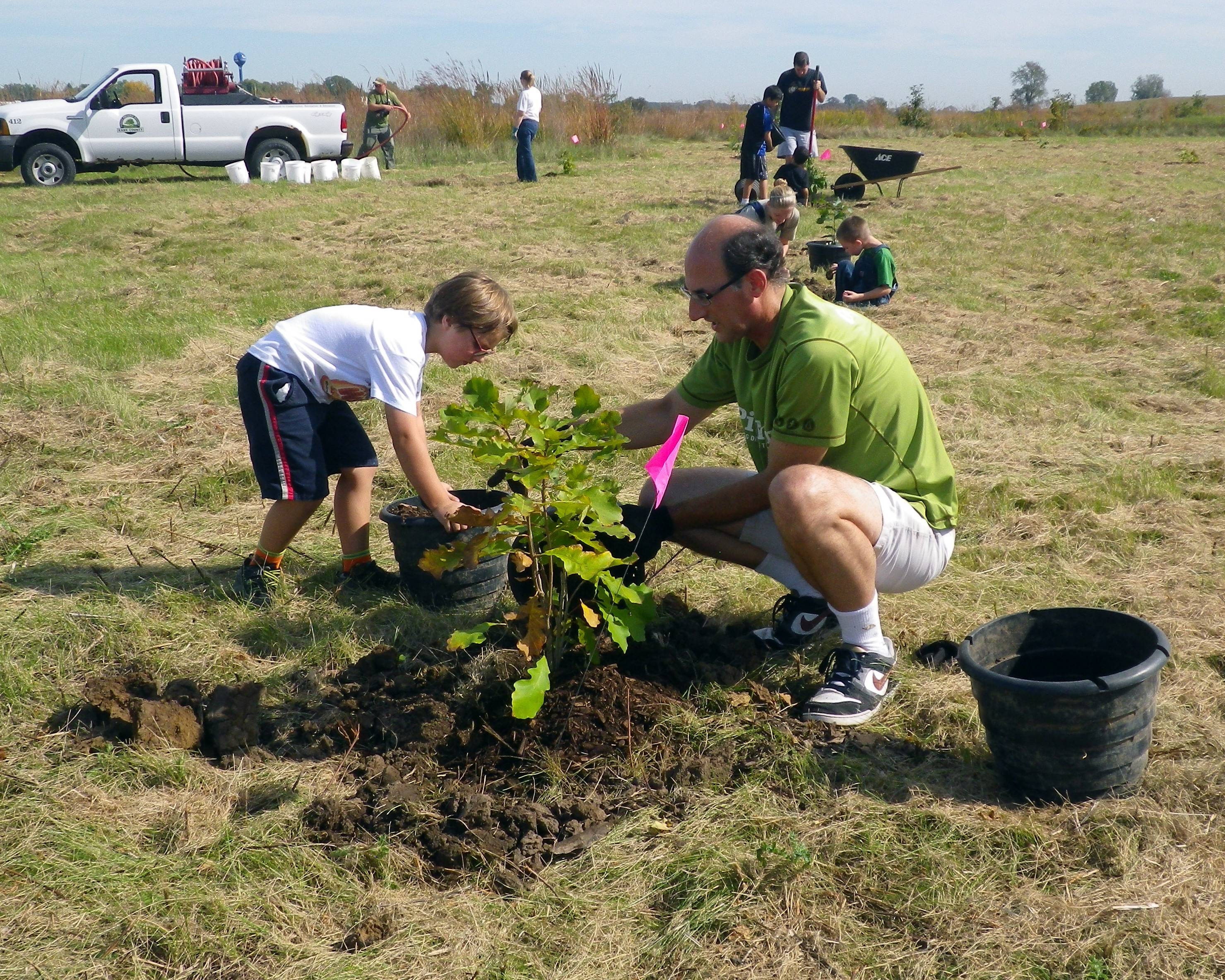 Volunteers can plant trees with the Forest Preserve District of Kane County at Earth Day activities on Saturday, April 22.