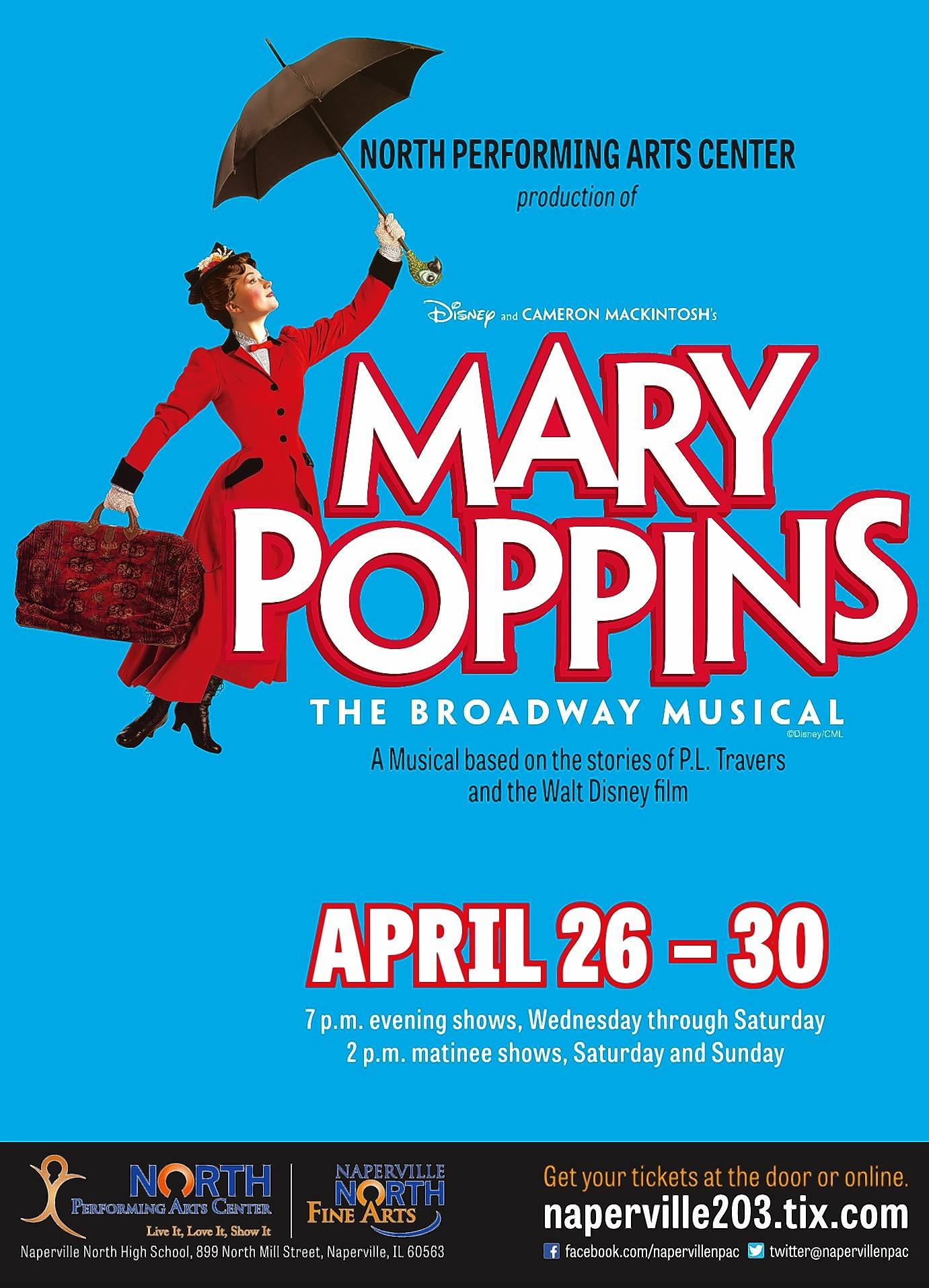 "Naperville North High School students will present ""Mary Poppins"" in a series of performances next week."