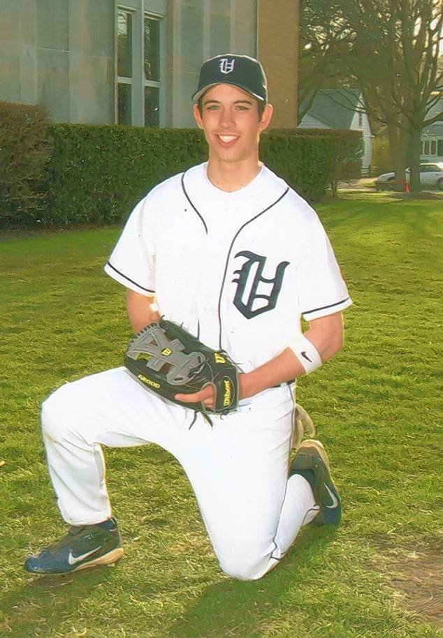 Colin Kronforst, in his baseball-playing day at St. Viator.