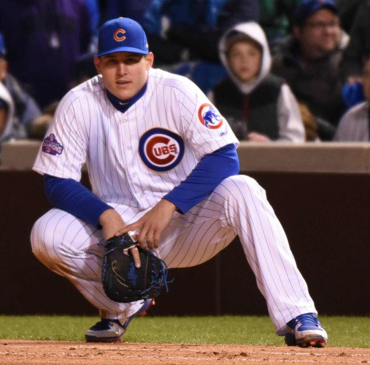 The defensive skills of Chicago Cubs first baseman Anthony Rizzo, above, and second baseman Javier Baez give manager Joe Maddon a lot of options to deploy in the field.