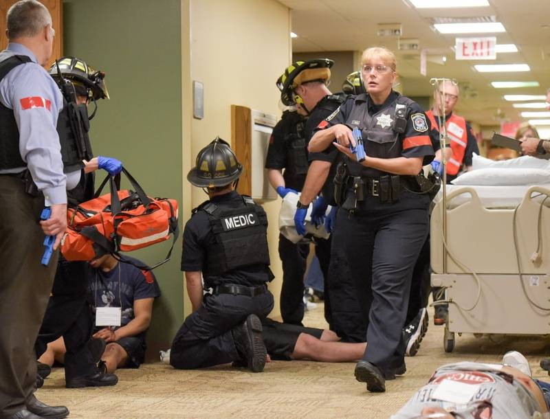 Naperville hospital practices response to active shooter
