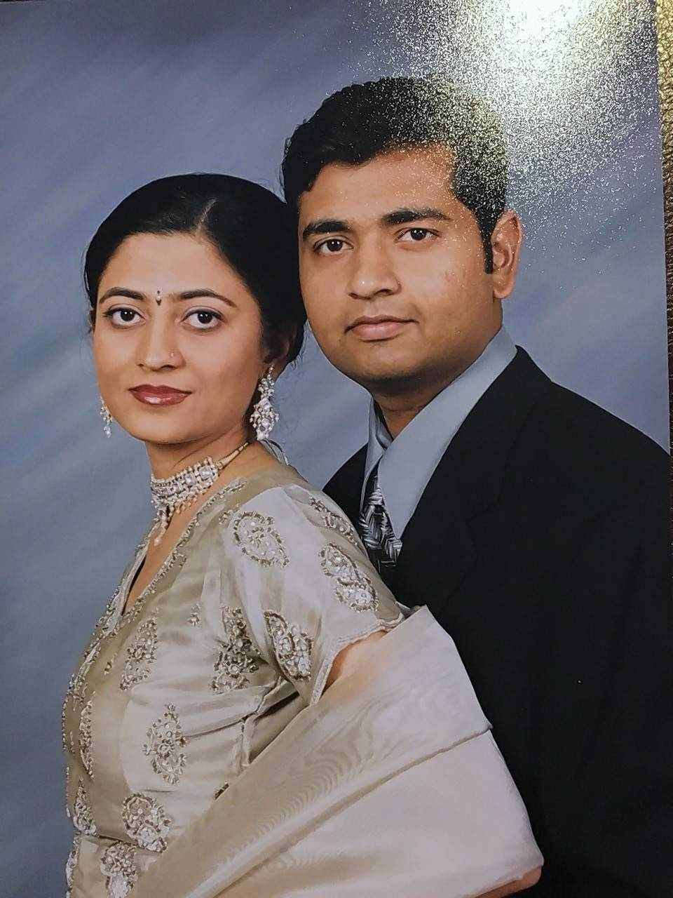 J.D. Patel, right, and wife Hetal Patel